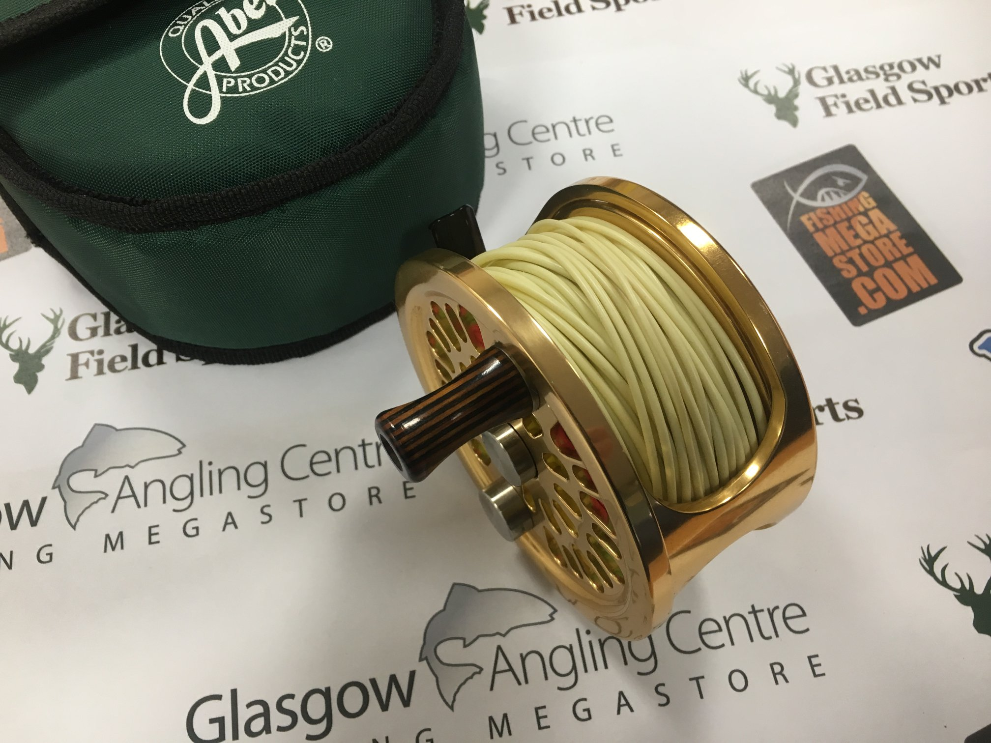 satin gold riptide engraved fly reels tibor custom