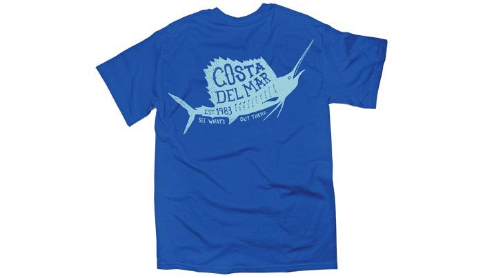 Costa del mar 1983 sailfish t shirt short sleeve glasgow for Costa fishing shirt