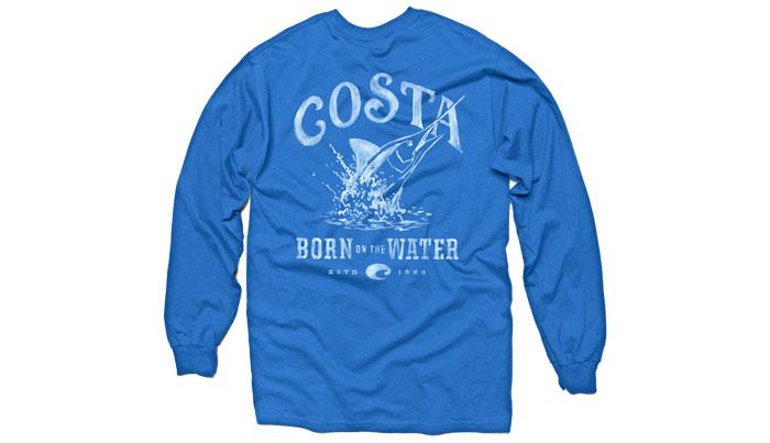 Costa del mar baja t shirt l s glasgow angling centre for Costa fishing shirt