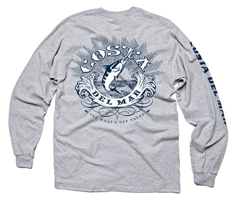 Costa del mar classic t shirt long sleeve glasgow for Costa fishing shirt