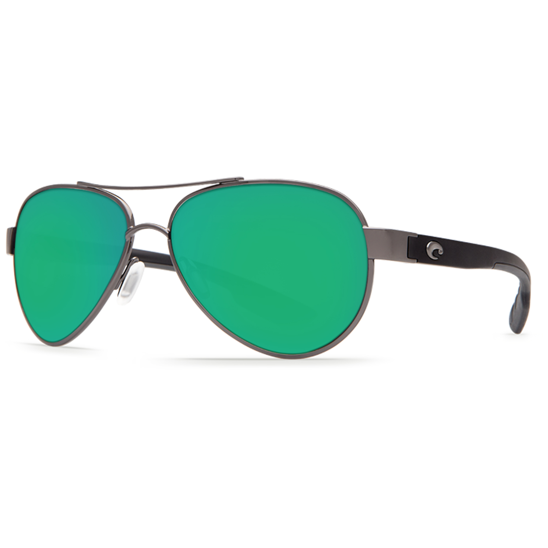 COSTA DEL MAR palladium//green mirror LORETO POLARIZED 580G GLASS sunglasses NEW!