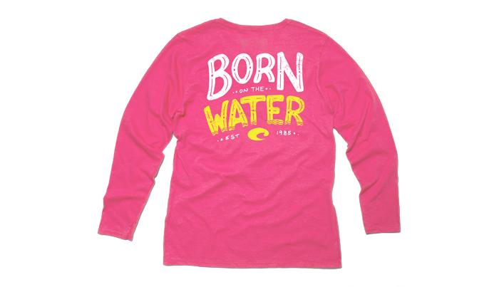 Costa del mar maddison long sleeve ladies t shirt for Costa fishing shirt