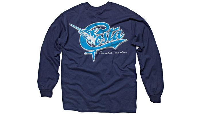 Costa del mar retro t shirt long sleeve glasgow angling for Costa fishing shirt
