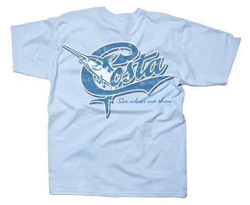 Costa del mar retro t shirt short sleeve glasgow angling for Costa fishing shirt