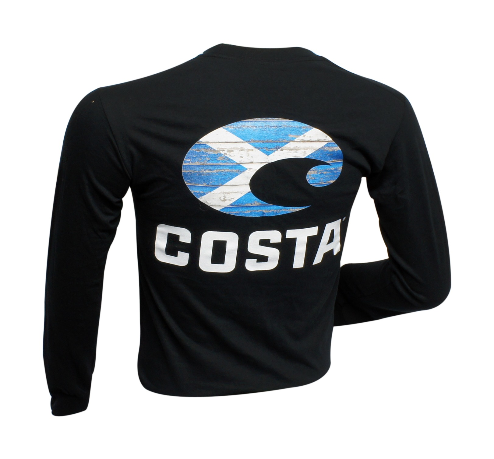 Costa del mar saltire logo long sleeve t shirt glasgow for Costa fishing shirt