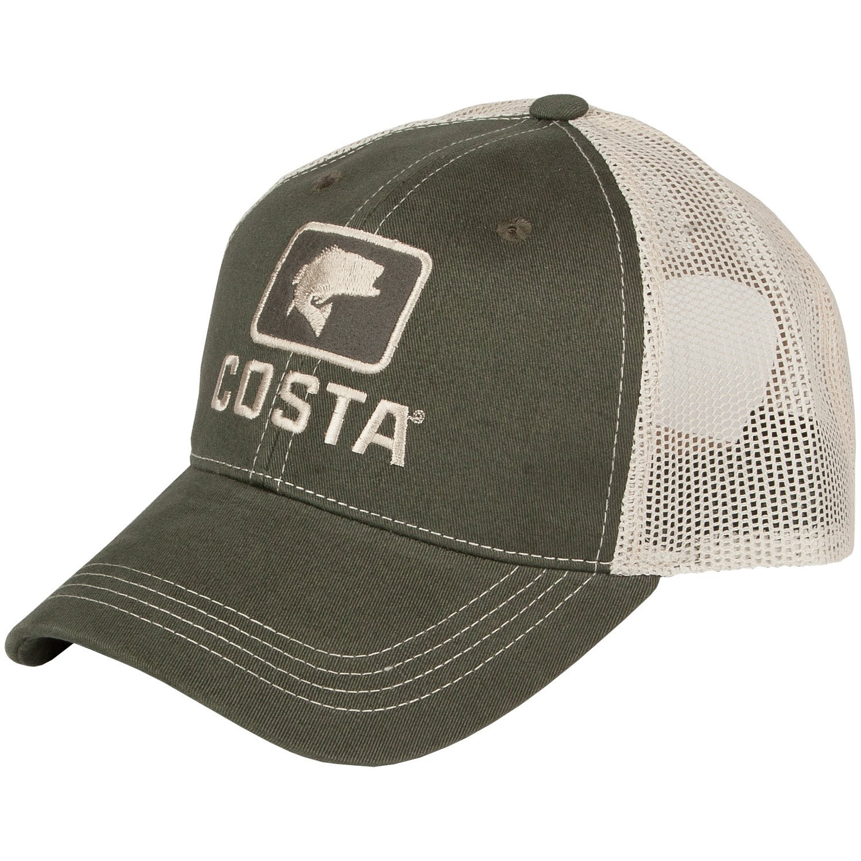 Costa del mar trucker xl bass cap glasgow angling centre for Bass fishing hats