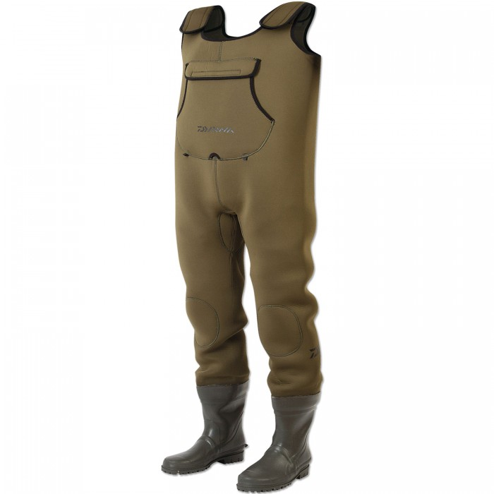 Daiwa neoprene bootfoot chest waders glasgow angling centre for Fishing waders with boots