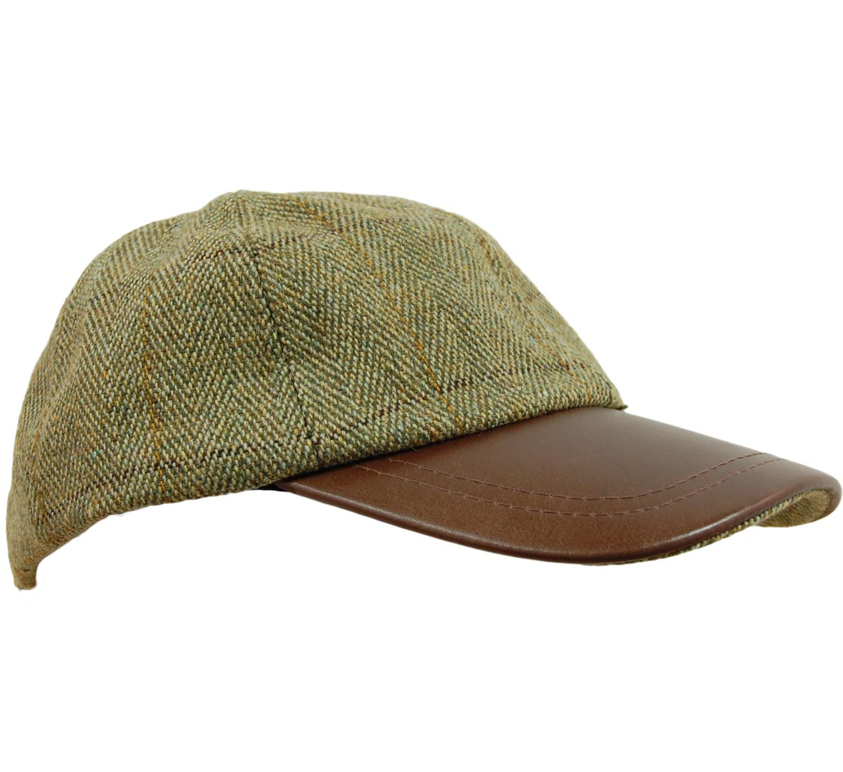 d52f57aee2d EK Tweed Leather Skip Cap – Glasgow Angling Centre