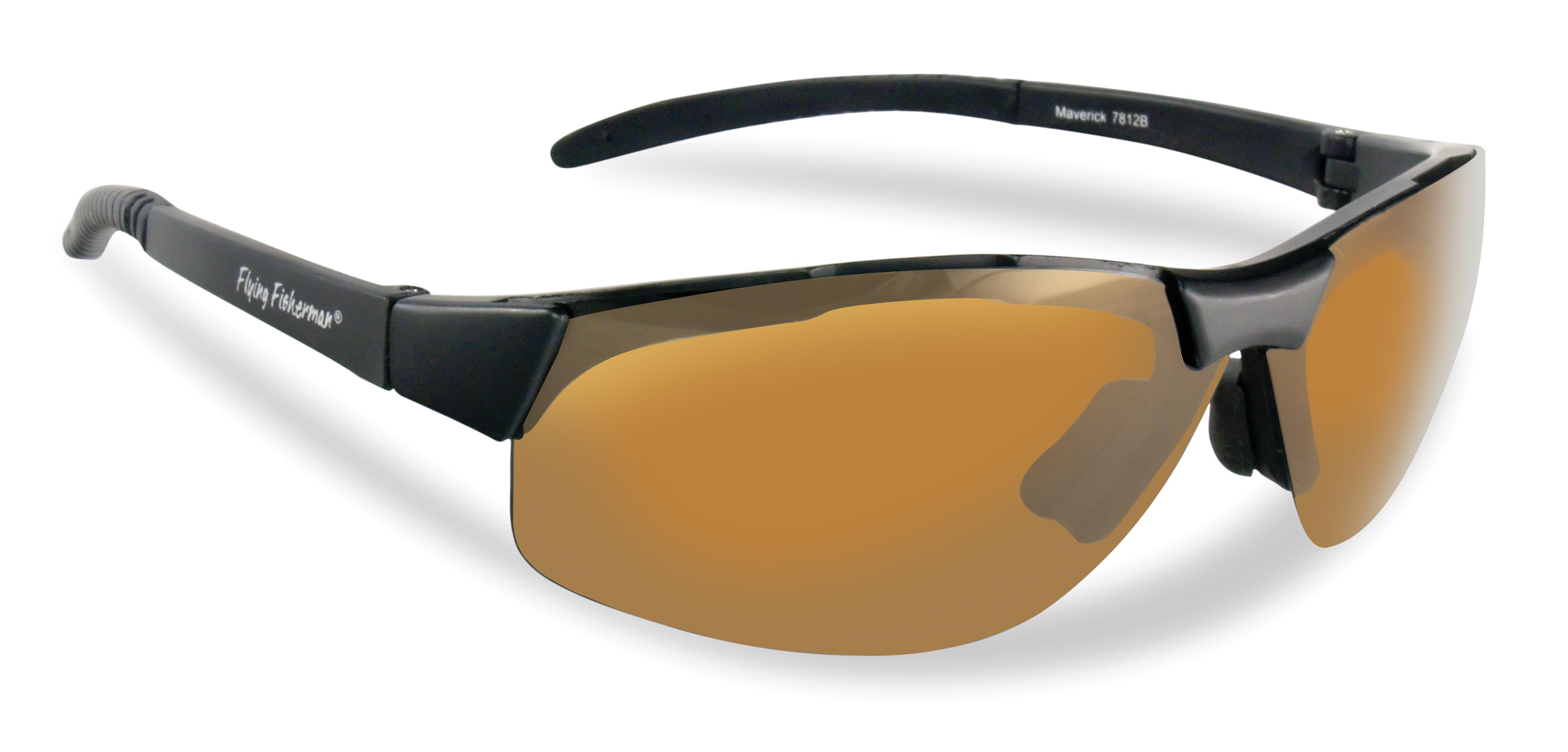 Black Frame Amber Lens Bifocal Flying Fisherman Cali Polarized Sunglasses