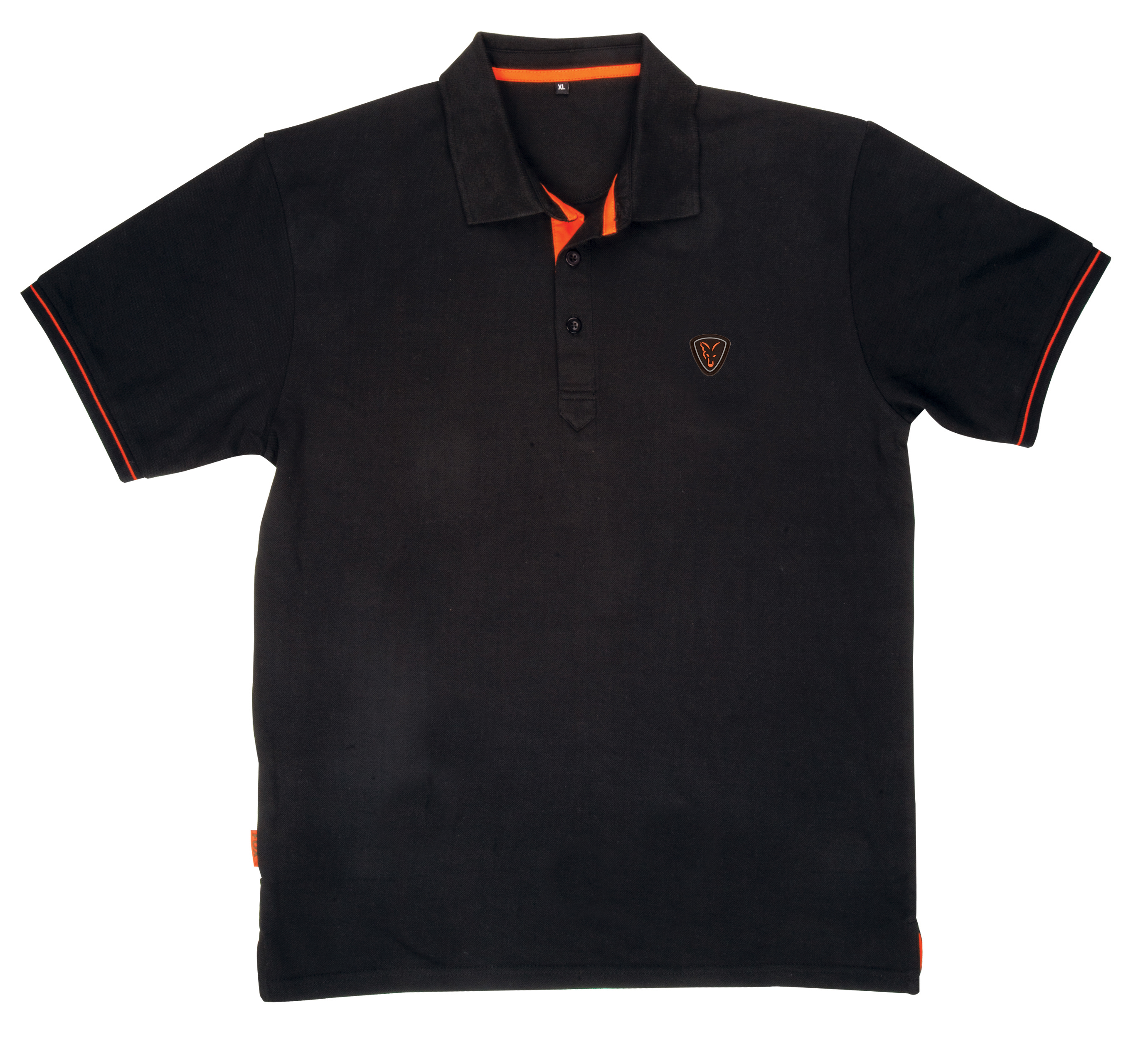 fox black orange polo shirt glasgow angling centre. Black Bedroom Furniture Sets. Home Design Ideas