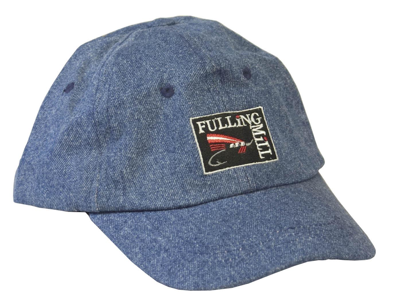 Fulling mill fly fishing cap denim blue glasgow for Fly fishing cap