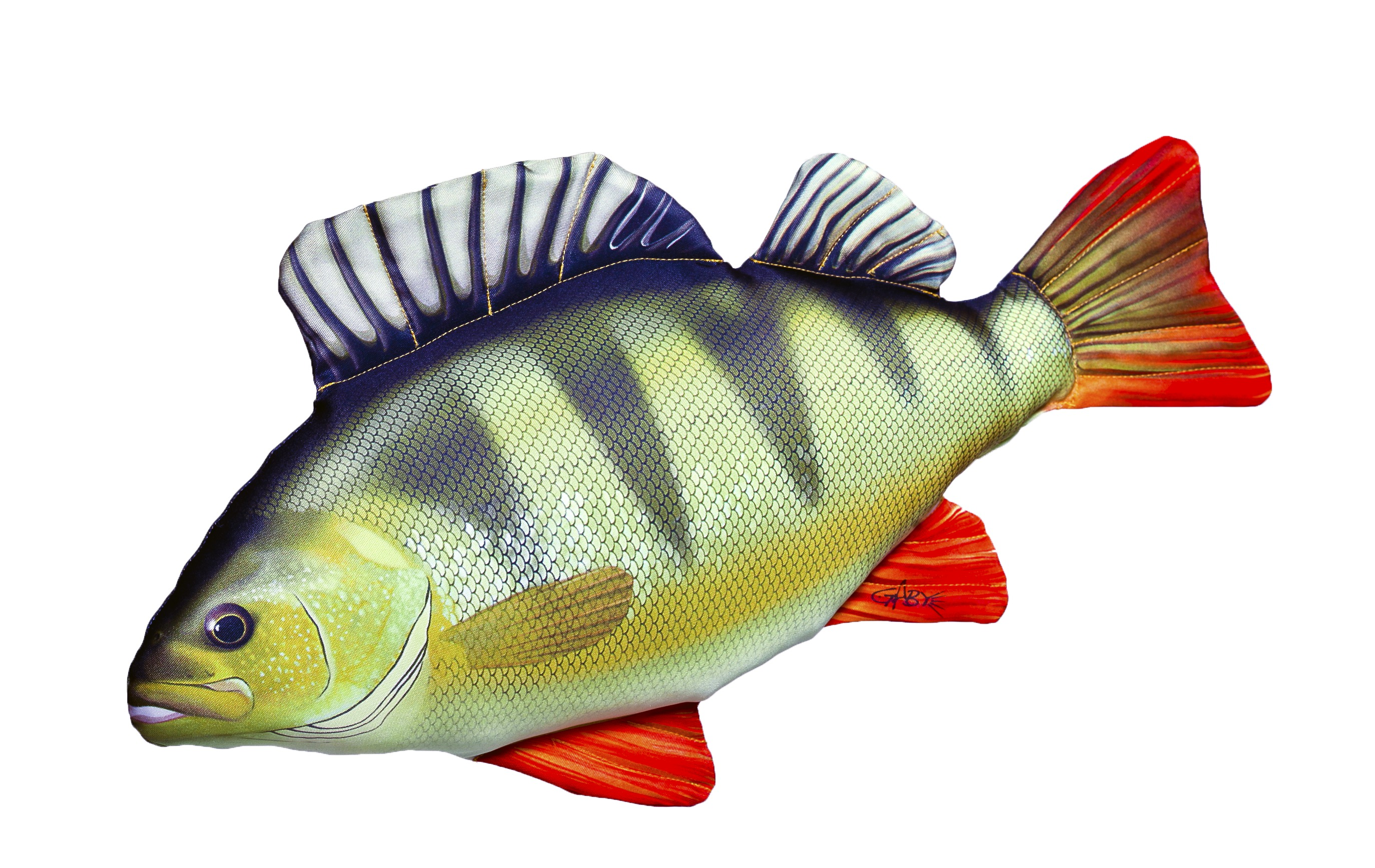 Gaby perch fish pillow glasgow angling centre for Fish fish fish fish fish
