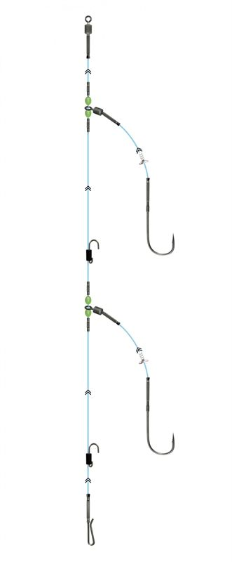 Gemini Two Hook Clip Down Ready Rig Glasgow Angling Centre
