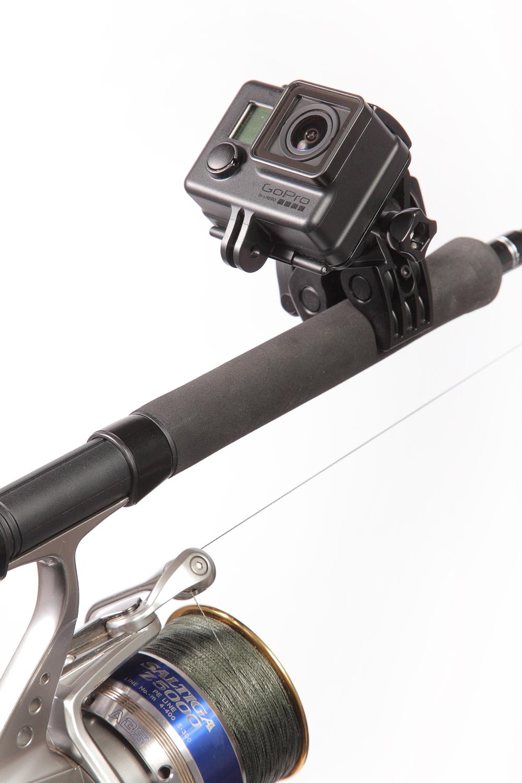 Gopro sportsman rod gun bow mount glasgow angling centre for Gun fishing rod