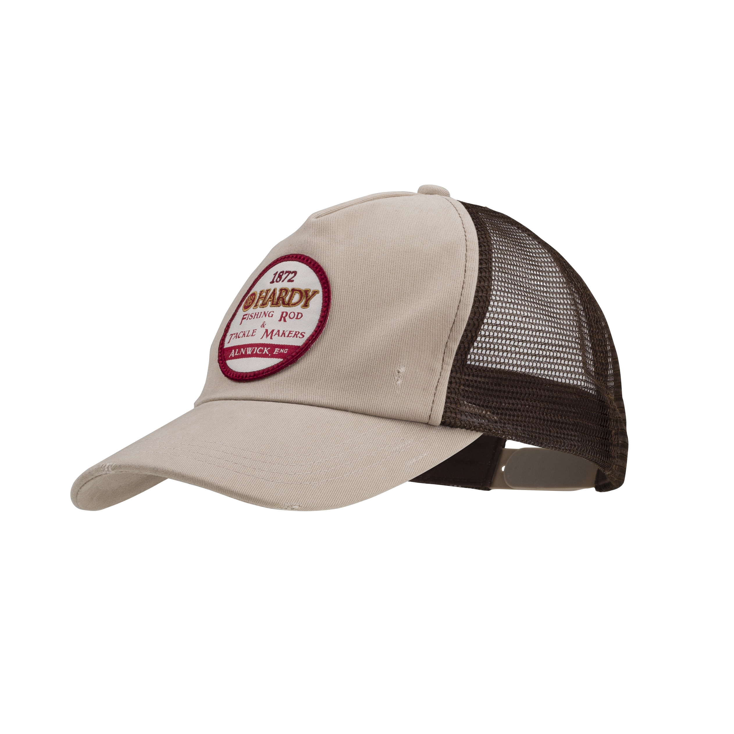 Hardy logo trucker hat khaki black glasgow angling centre for Fishing logo hats