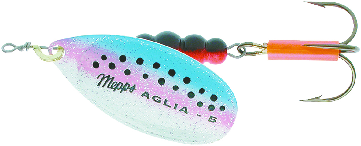 Mepps aglia rainbow trout lures glasgow angling centre for Mepps fishing lures