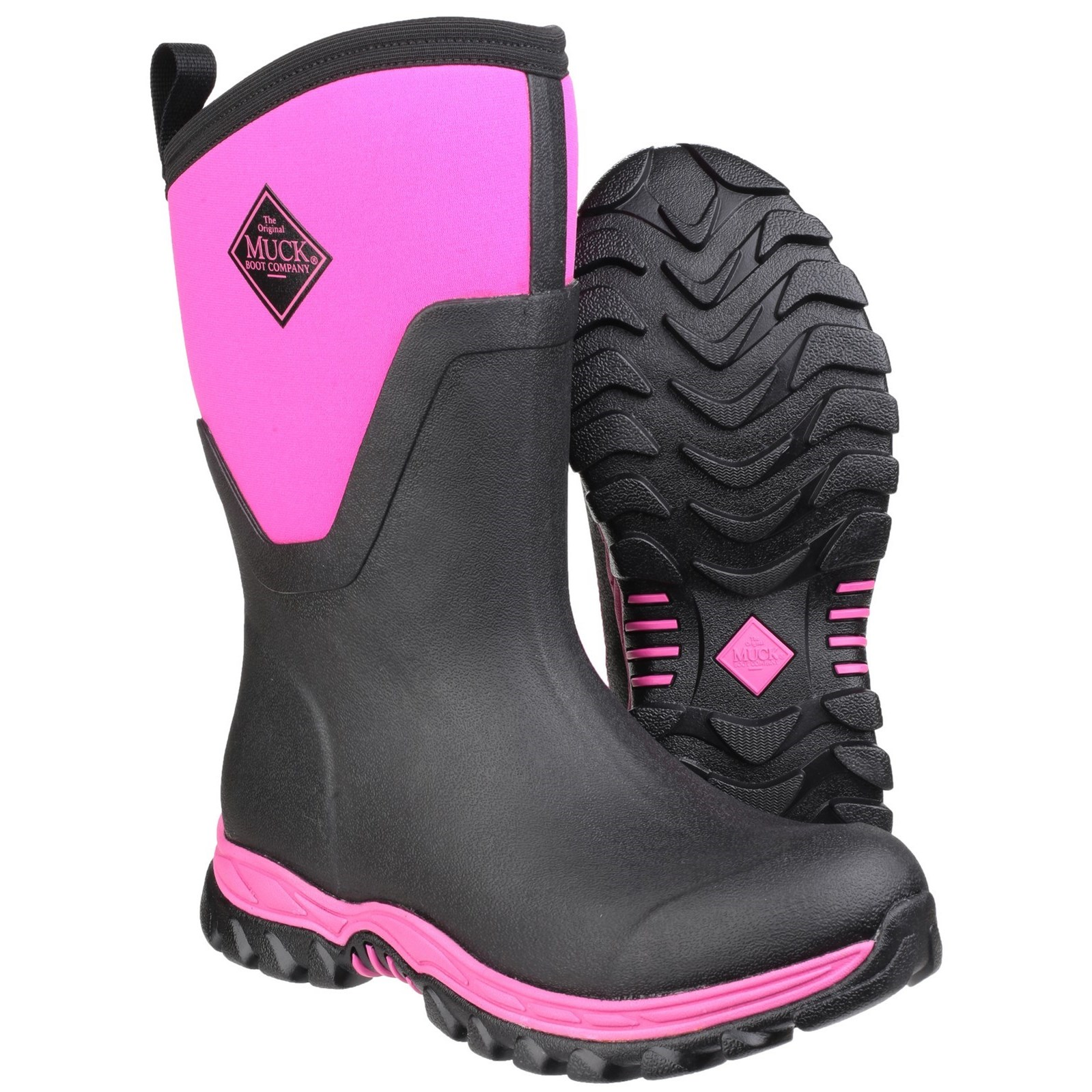 0645d528704c Muck Boots Arctic Sport Mid Pull On Wellington Boot Black Pink – Glasgow  Angling Centre