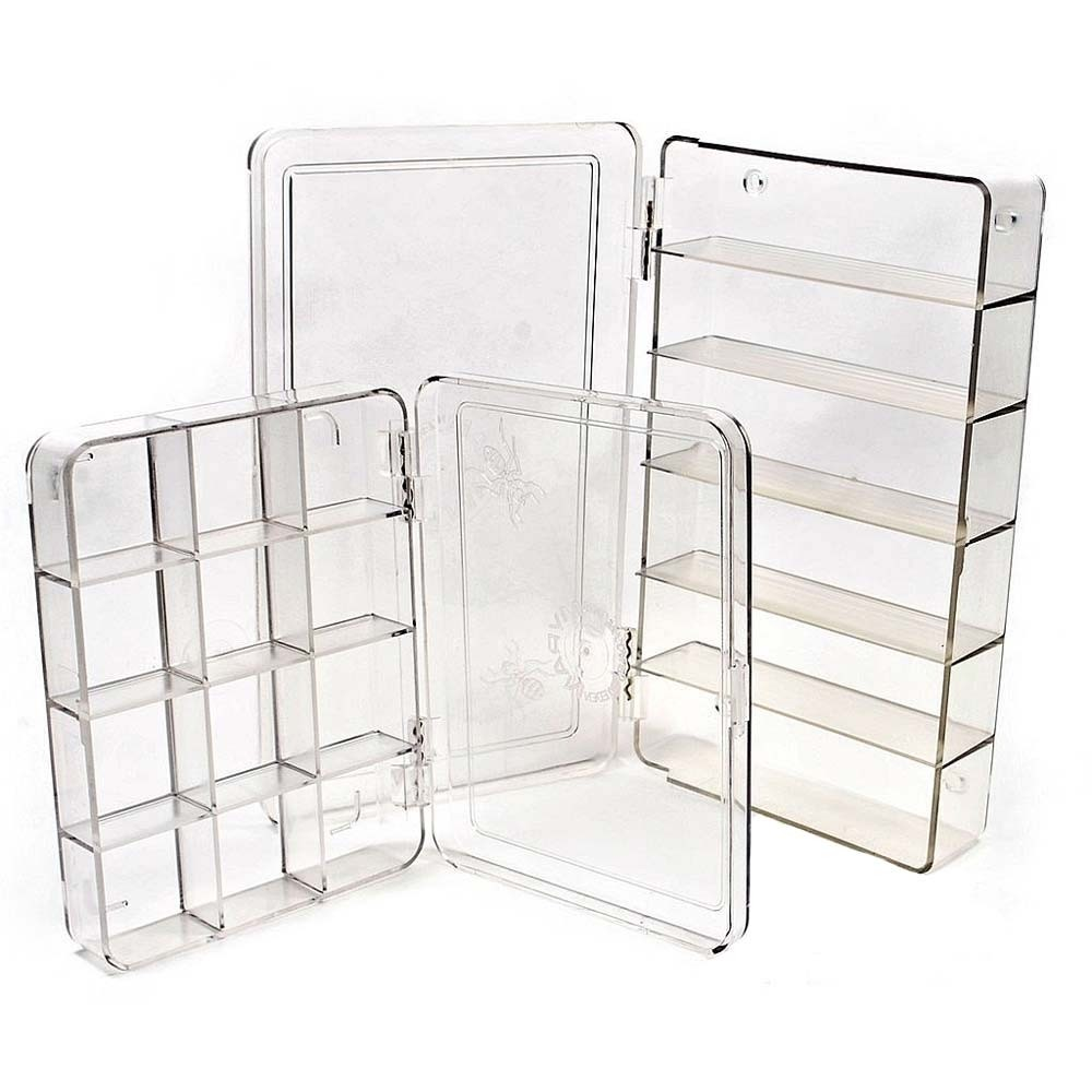 Large Clear 6 Compartment Fly Box