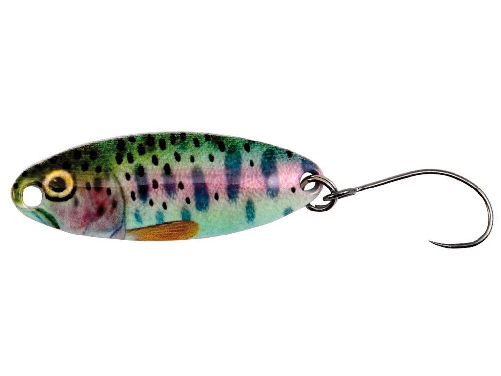 Neu Nomura Isei Real Spoon Real Rainbow Trout 520 3,2 cm /& 2,30g Forellen Barsch