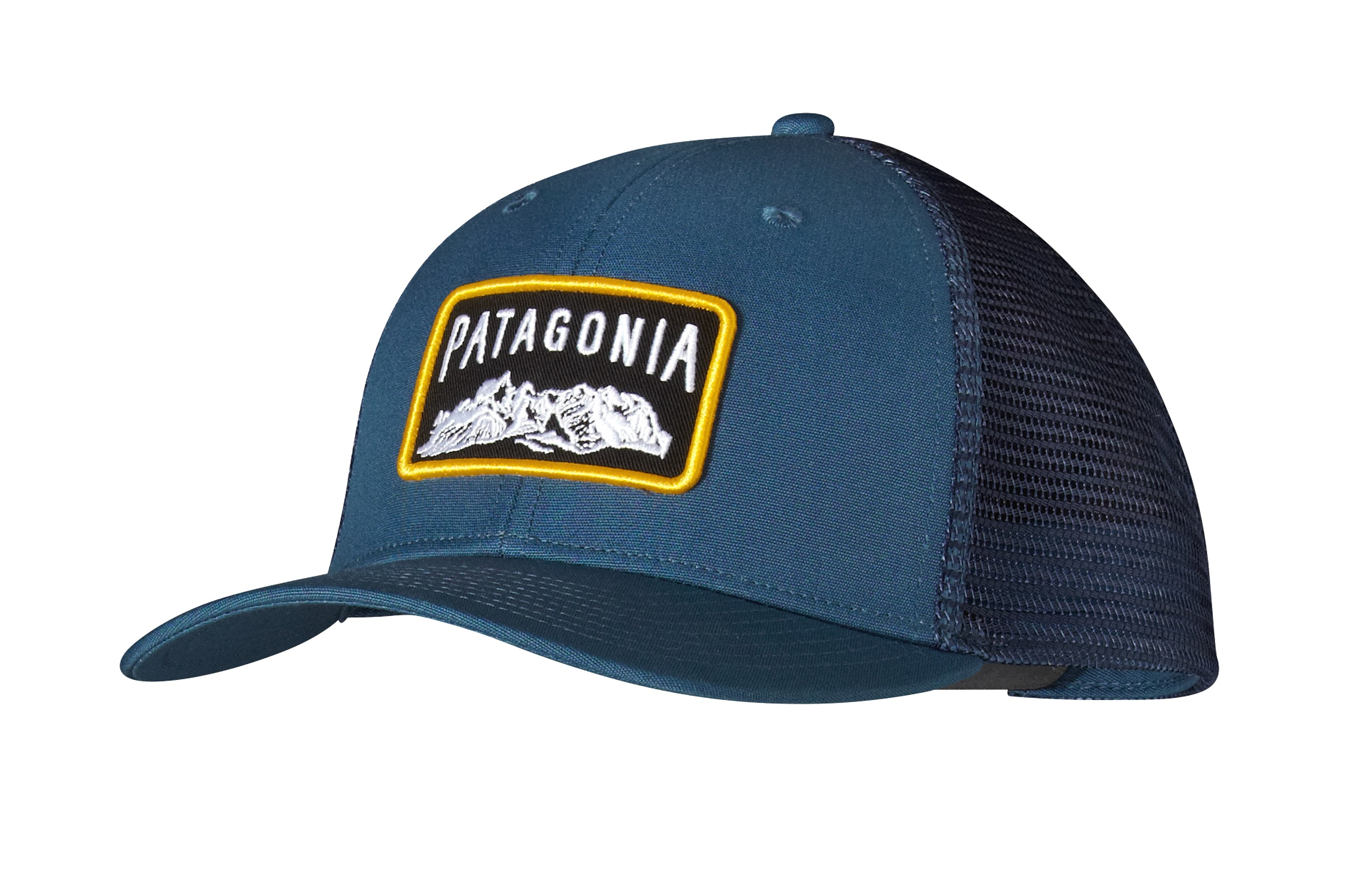 Patagonia climb a mountain trucker hat glass blue for Patagonia fishing hats