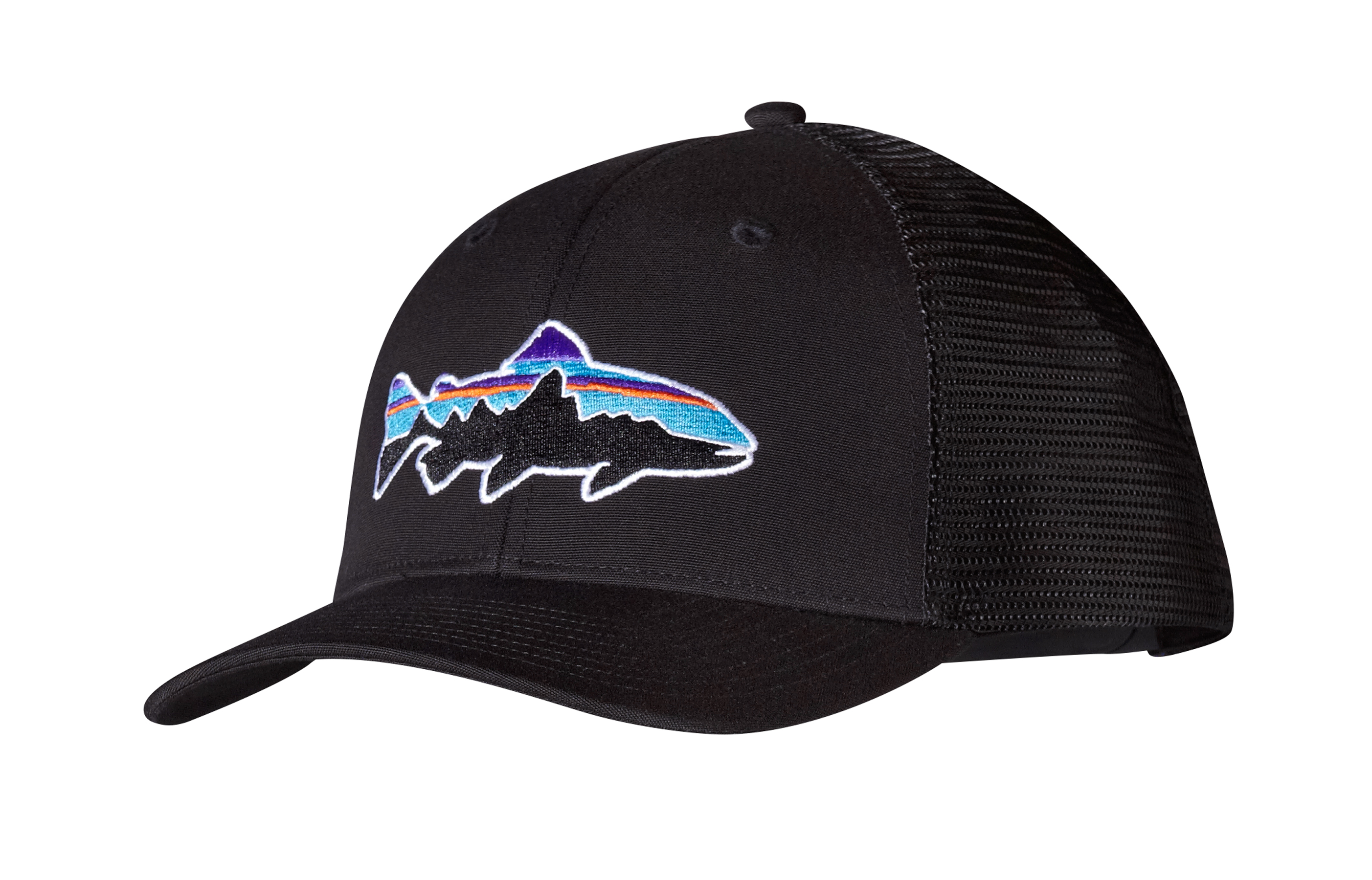 Patagonia fitz roy trout trucker hat glasgow angling centre for Fishing trucker hats