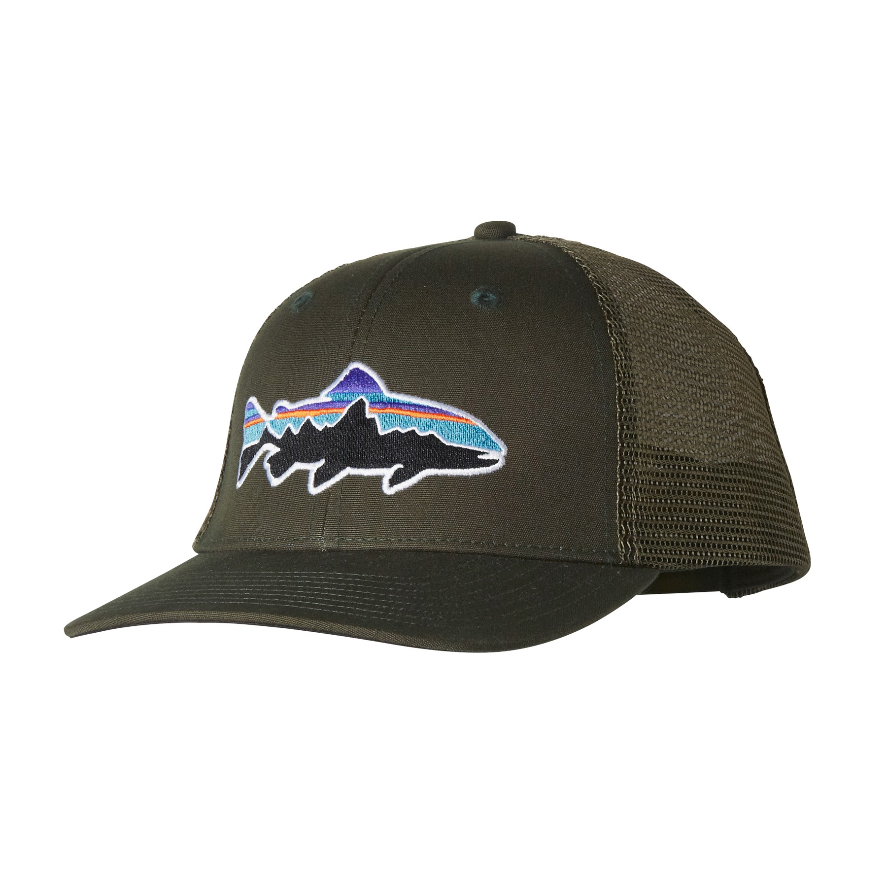 Patagonia fitz roy trout trucker hat glasgow angling centre for Patagonia fly fishing hat