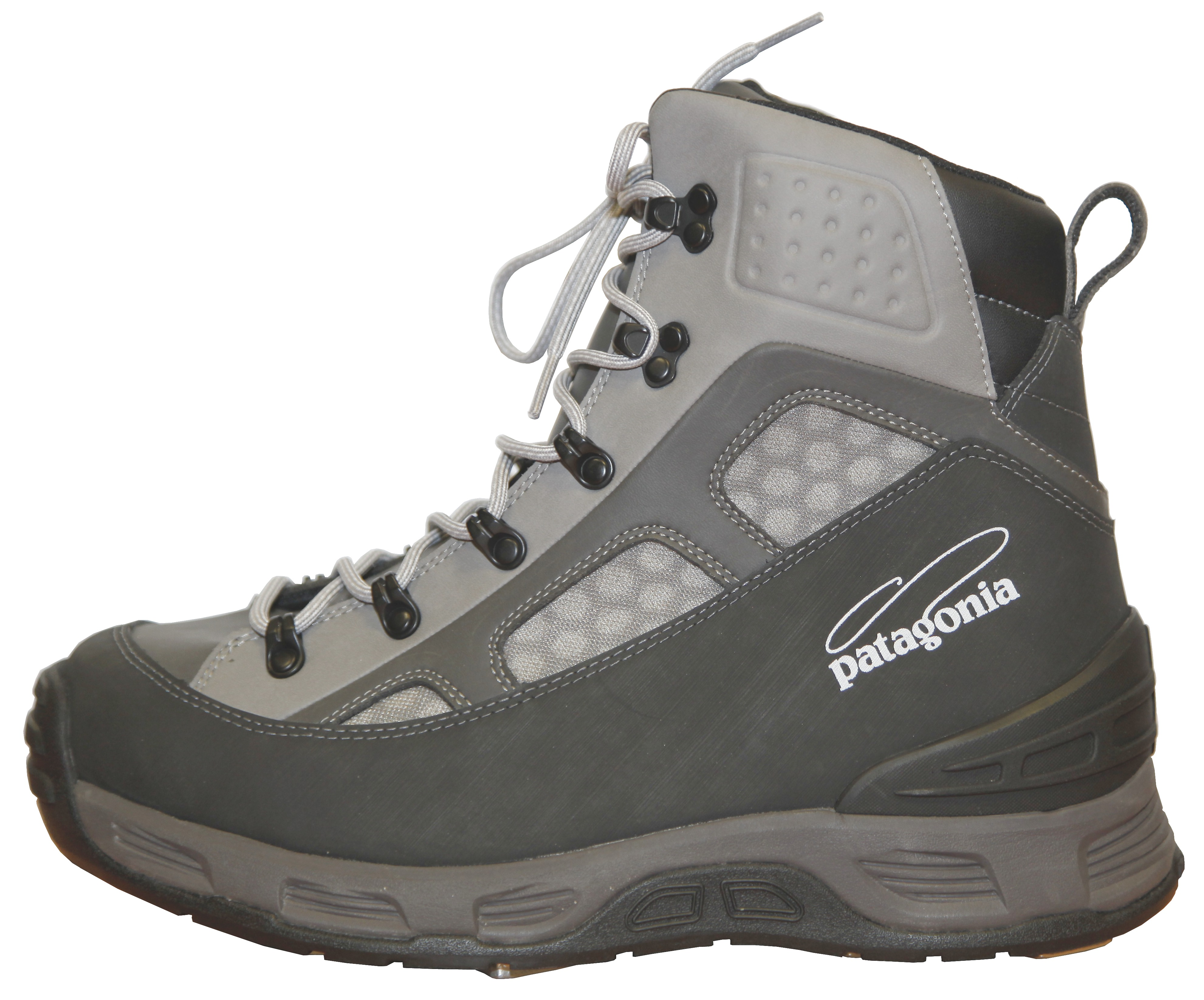 Patagonia foot tractor wading boots narwhal grey glasgow for Wading shoes for fishing