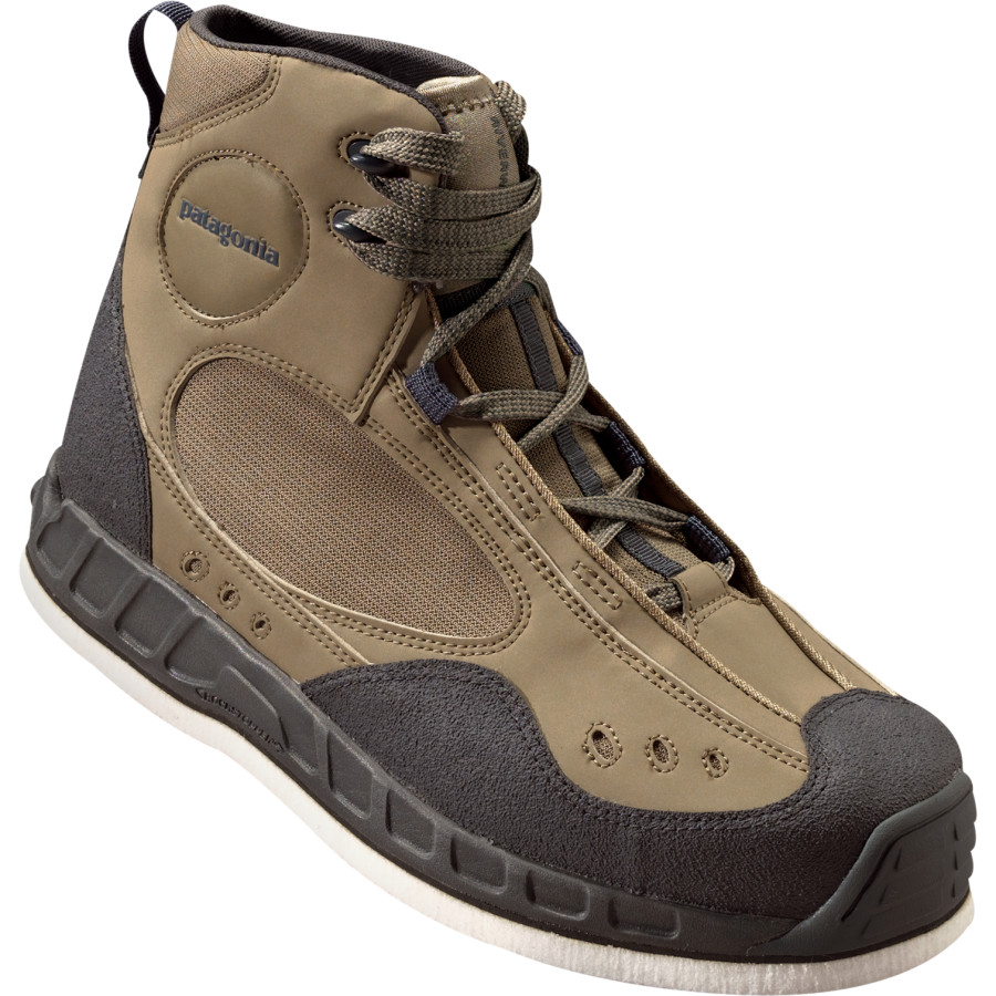 Patagonia riverwalker wading boots studded felt glasgow for Wading shoes for fishing