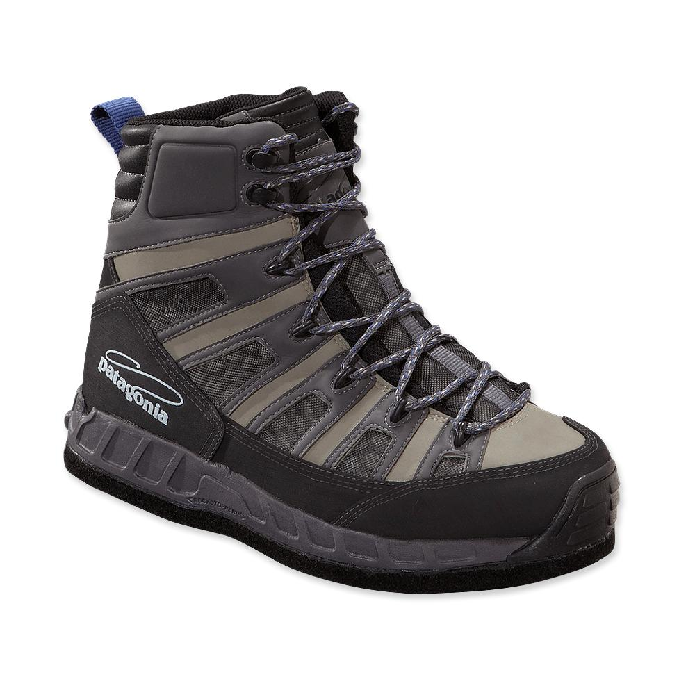 Patagonia ultralight wading boots felt alpha green for Wading shoes for fishing
