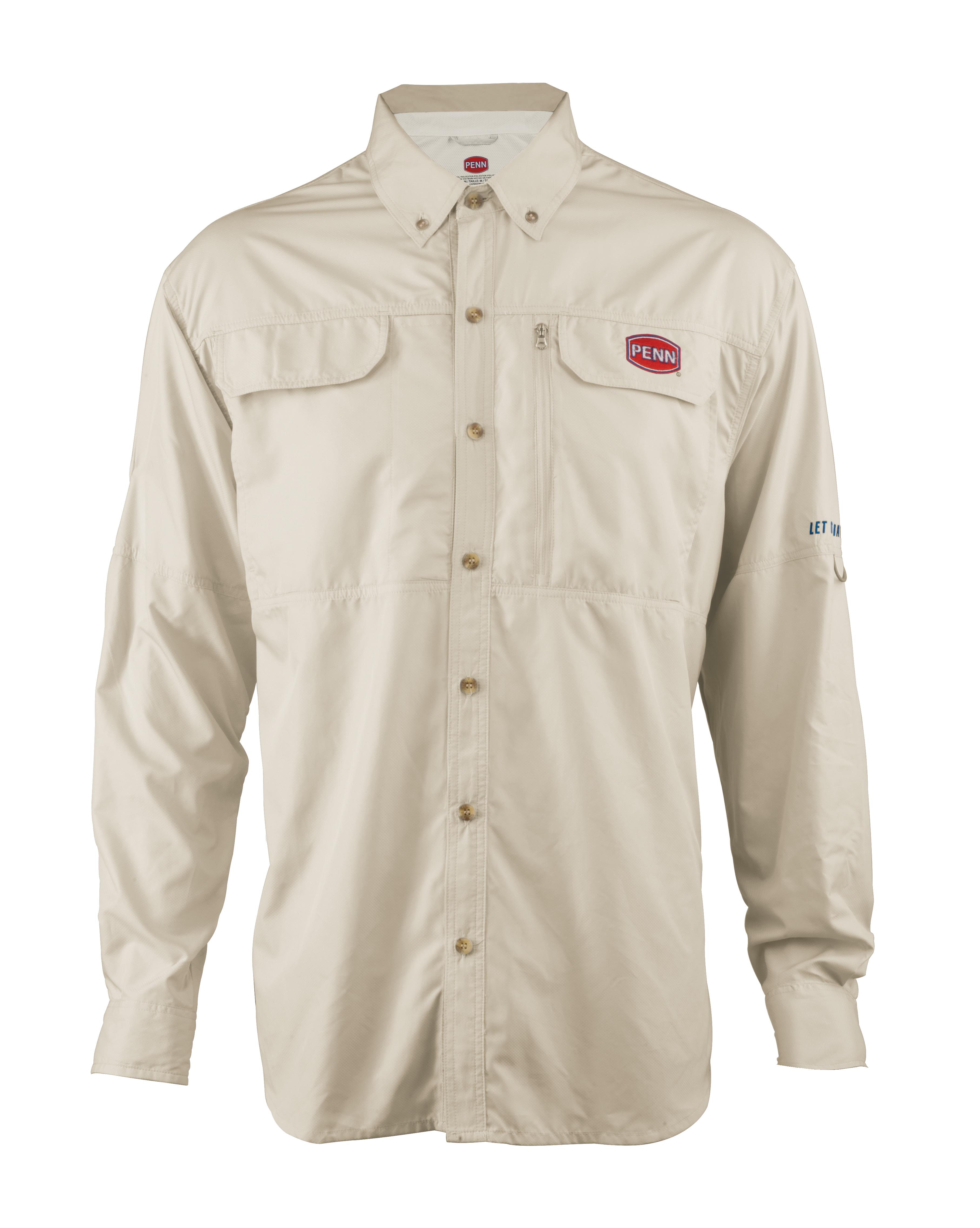 Penn vented performance long sleeve shirt glasgow for Long sleeve performance fishing shirts