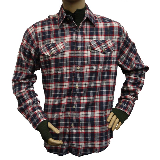 Pinewood Texas Flannel Shirts Blue Red Glasgow Angling