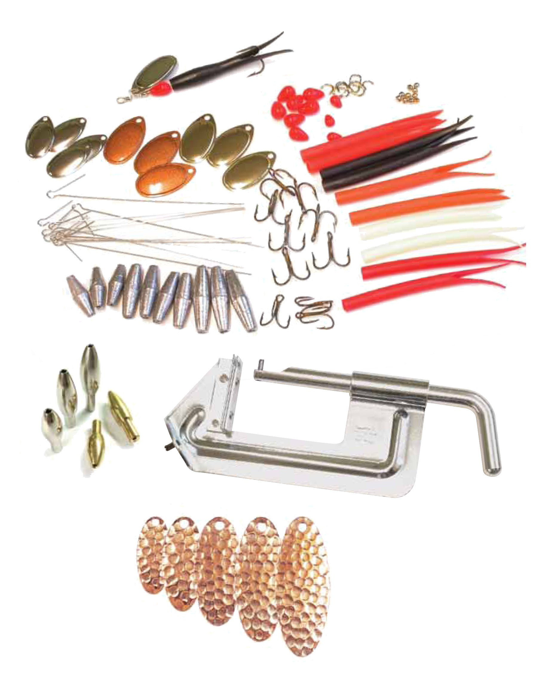 Reuben heaton flying c spinner kits glasgow angling centre for Fishing lure kits