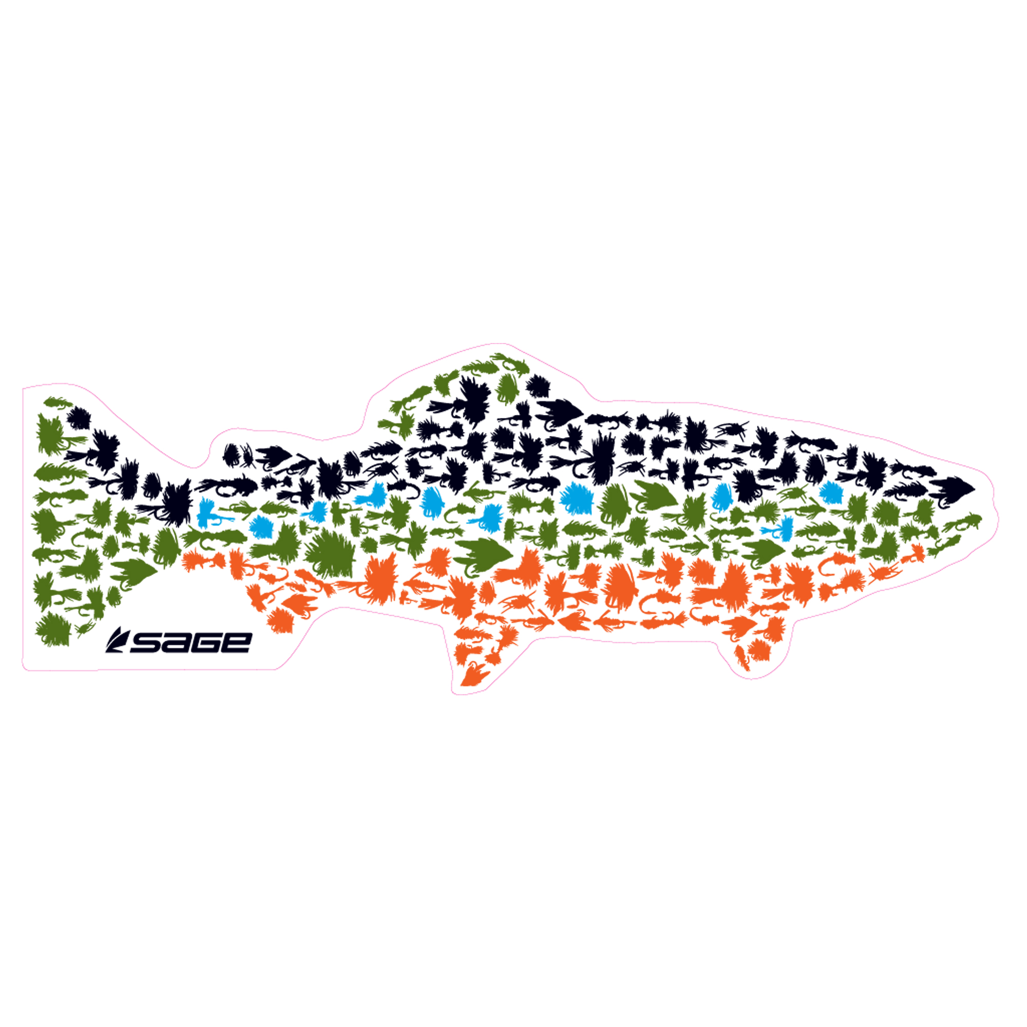 sage fish fly decals � glasgow angling centre