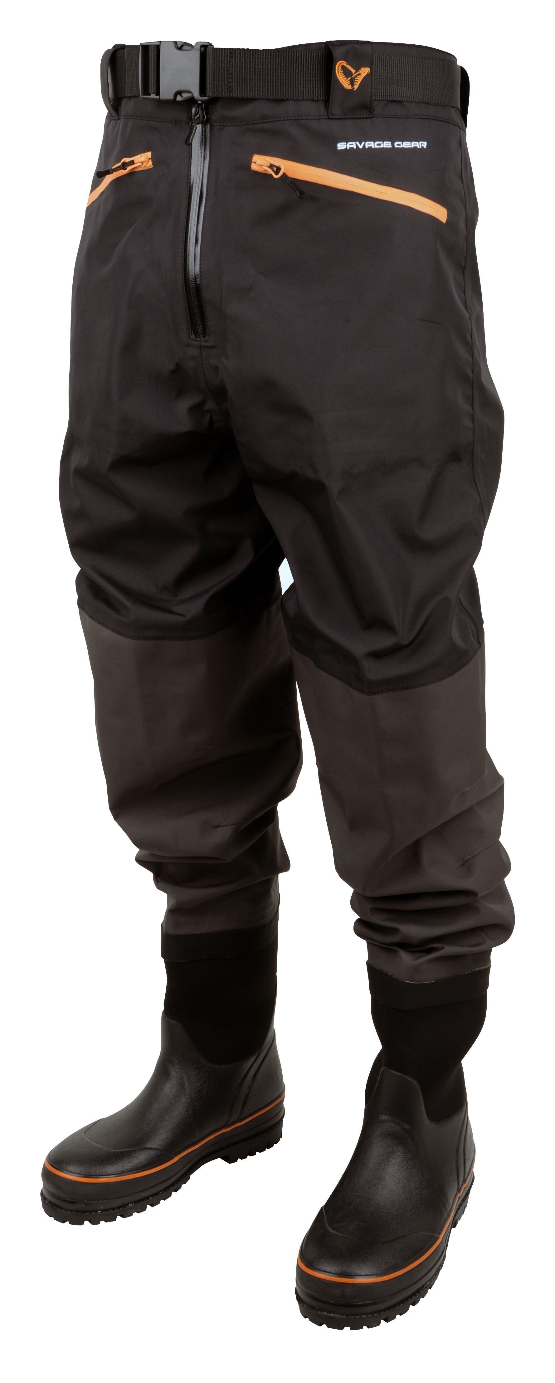Savage gear breathable waist wader boot foot cleated for Fly fishing waders