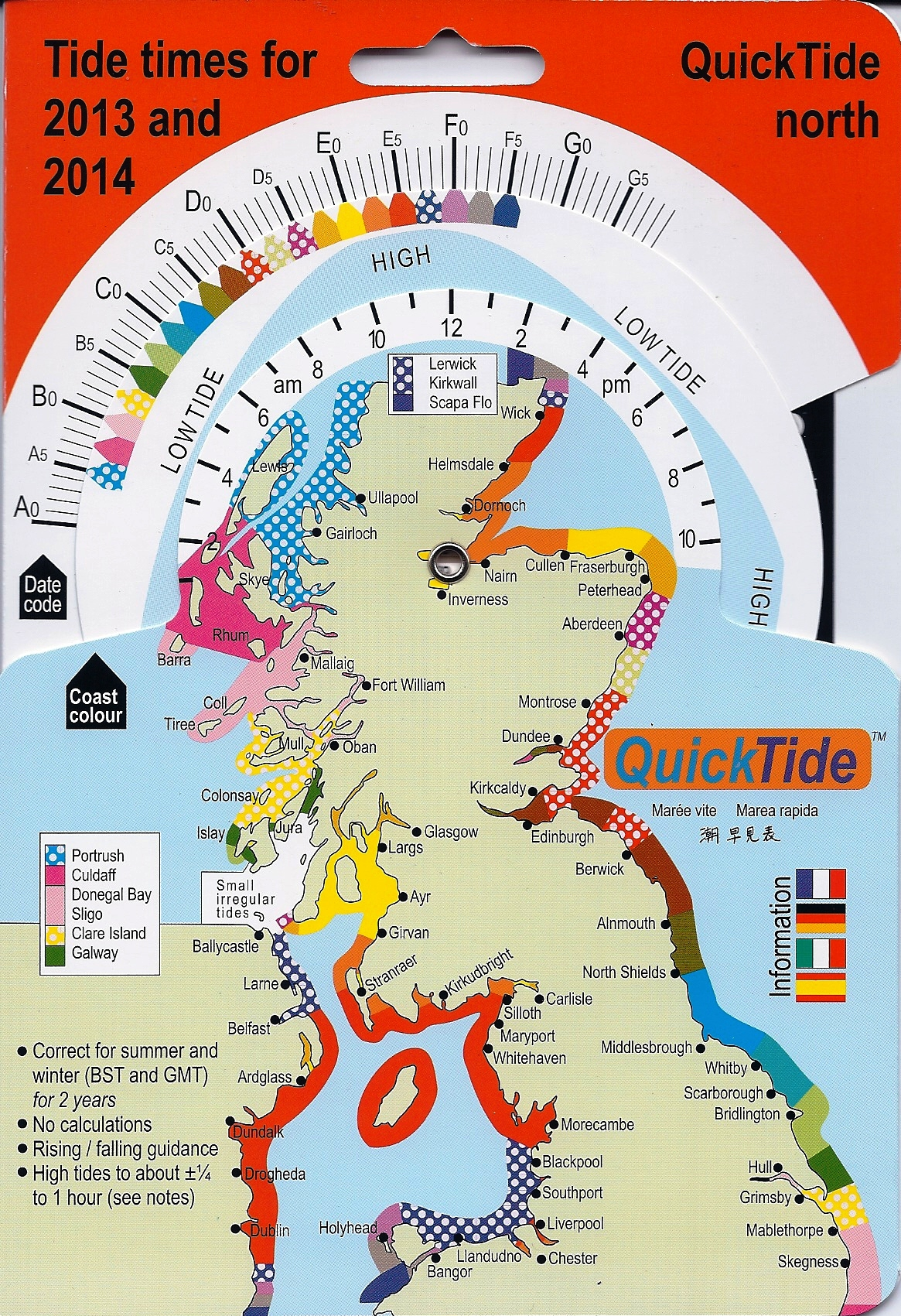 Scottish tide tables glasgow angling centre for Fishing tide charts