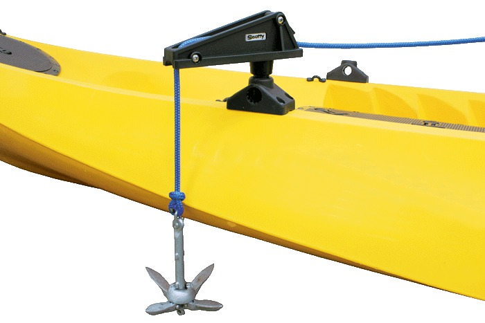 Scotty anchor lock w 241 side deck mount glasgow angling for Fishing kayak anchor