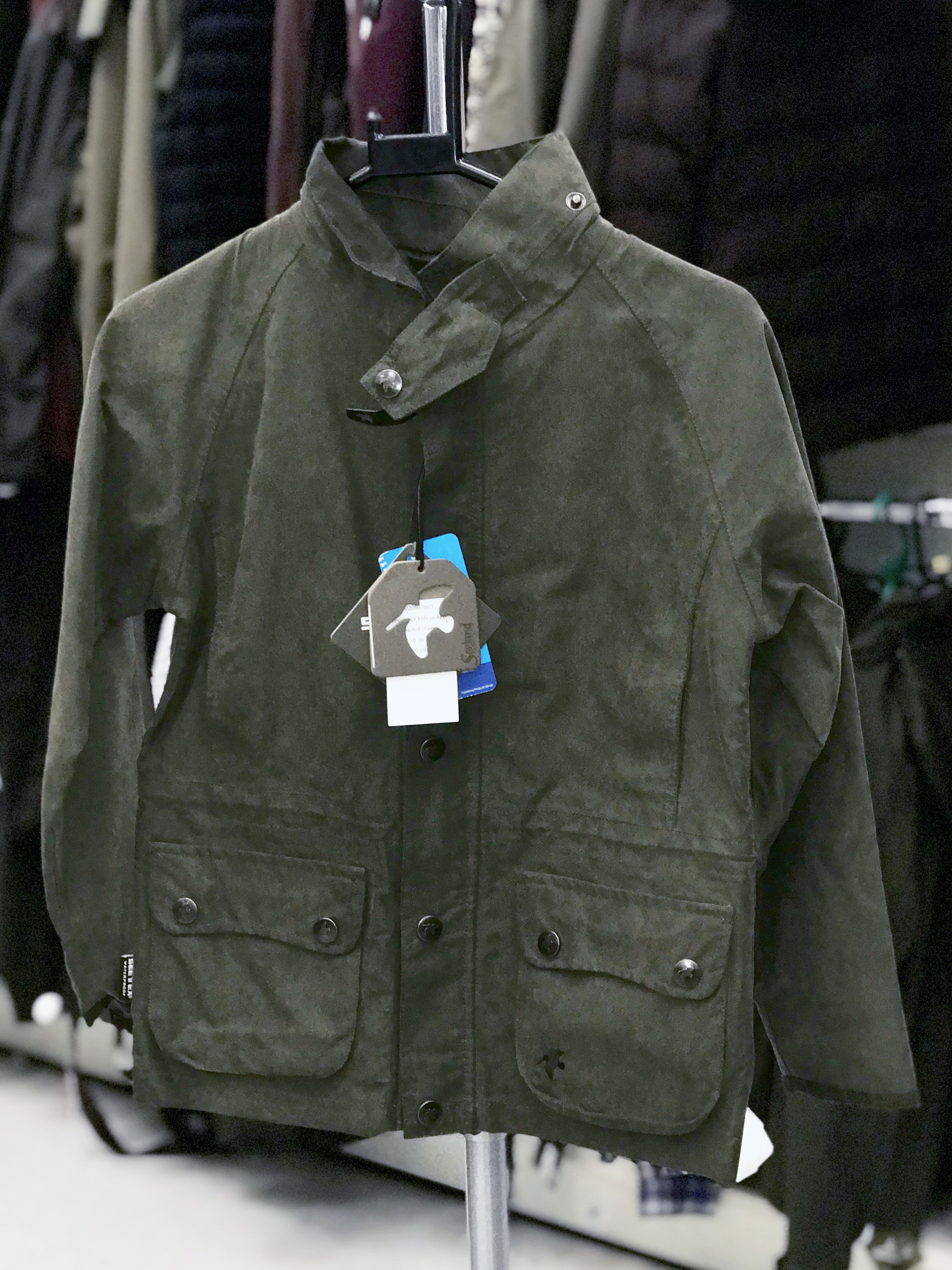 7fc2d79edc721 Preloved Seeland Ex Display Woodcock Kids Jacket Shaded Olive 8 - As New