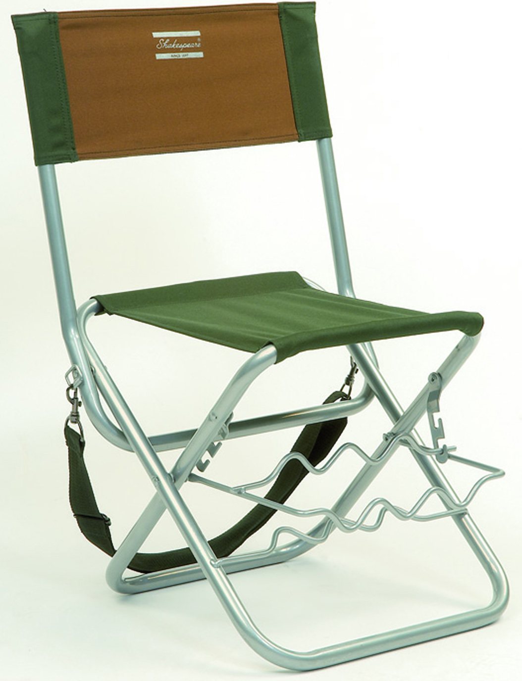 Shakespeare Folding Chair With Rod Rest – Glasgow Angling Centre
