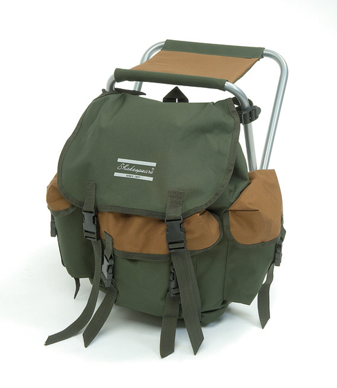 Shakespeare Stool With Back Pack Glasgow Angling Centre