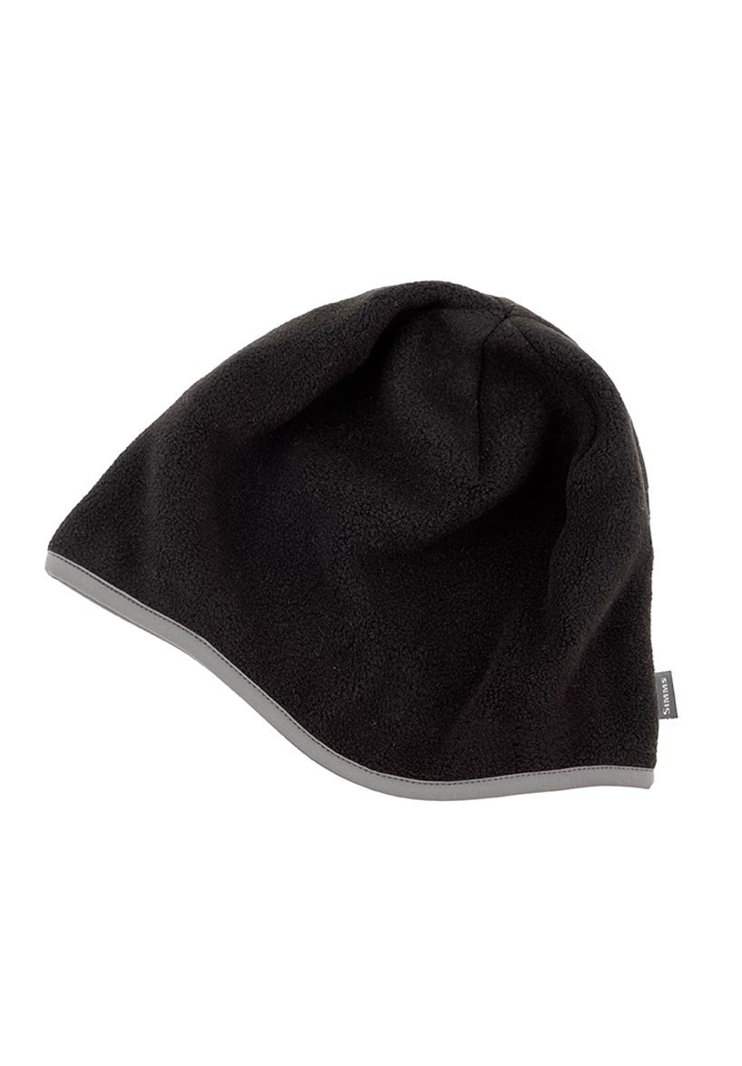 Simms fleece hat cap black glasgow angling centre for Simms fishing hat