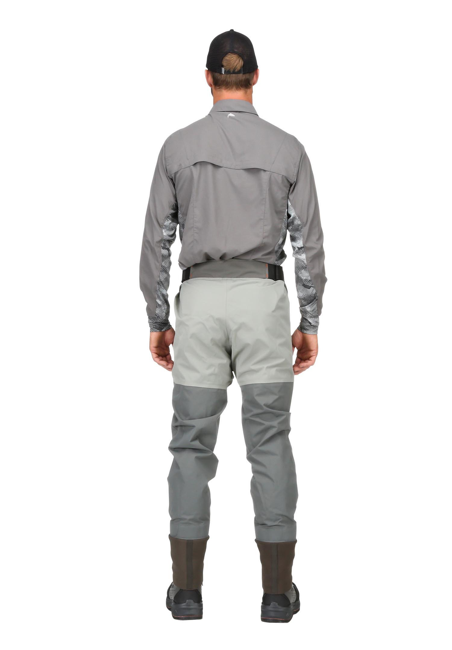 Simms freestone breathable waist waders smoke glasgow for Simms fishing waders