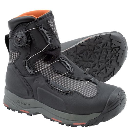 Simms g4 boa boots black glasgow angling centre for Simms fishing shoes