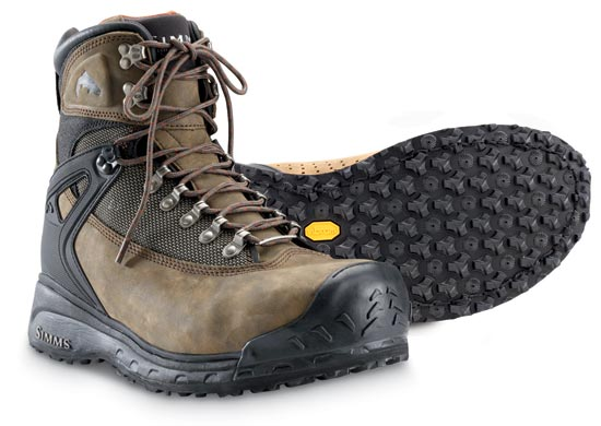 Simms guide vibram sole wading boots glasgow angling centre for Simms fishing shoes