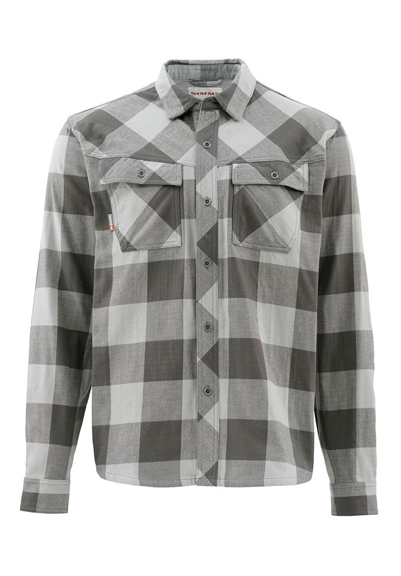 Simms heavy weight flannel shirt glasgow angling centre for Heavy plaid flannel shirt