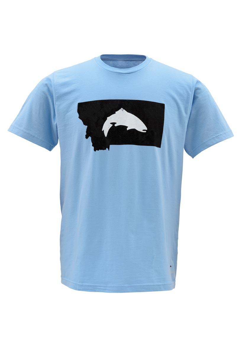 Simms t shirt fish montana ss light blue glasgow angling for Fishing t shirt