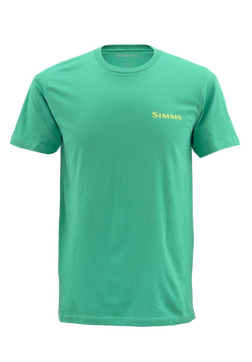 Simms t shirt hatch shamrock glasgow angling centre for Simms fishing shirts
