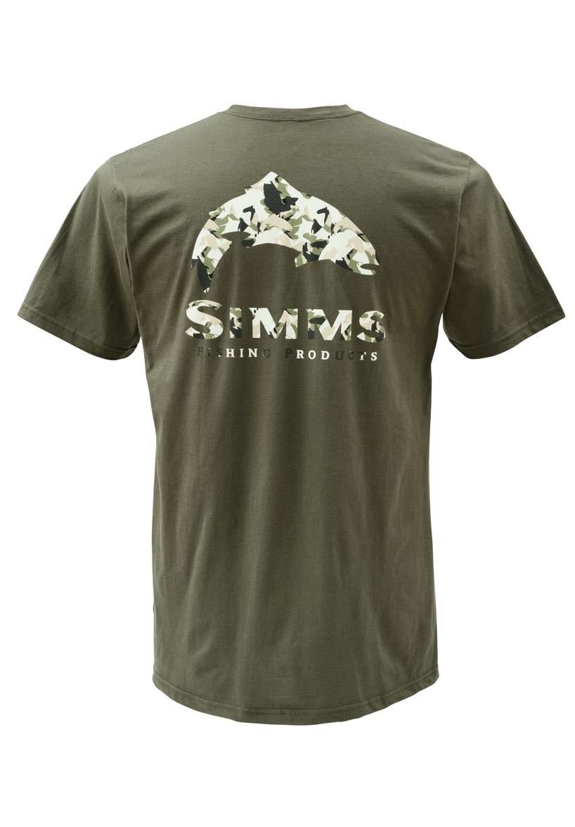 Simms t shirt trout camo ss glasgow angling centre for Camo fishing shirts