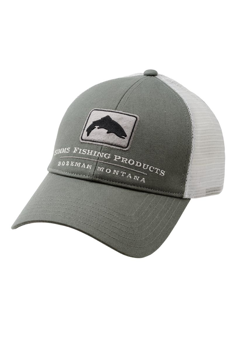 Simms trout trucker cap glasgow angling centre for Fishing trucker hats