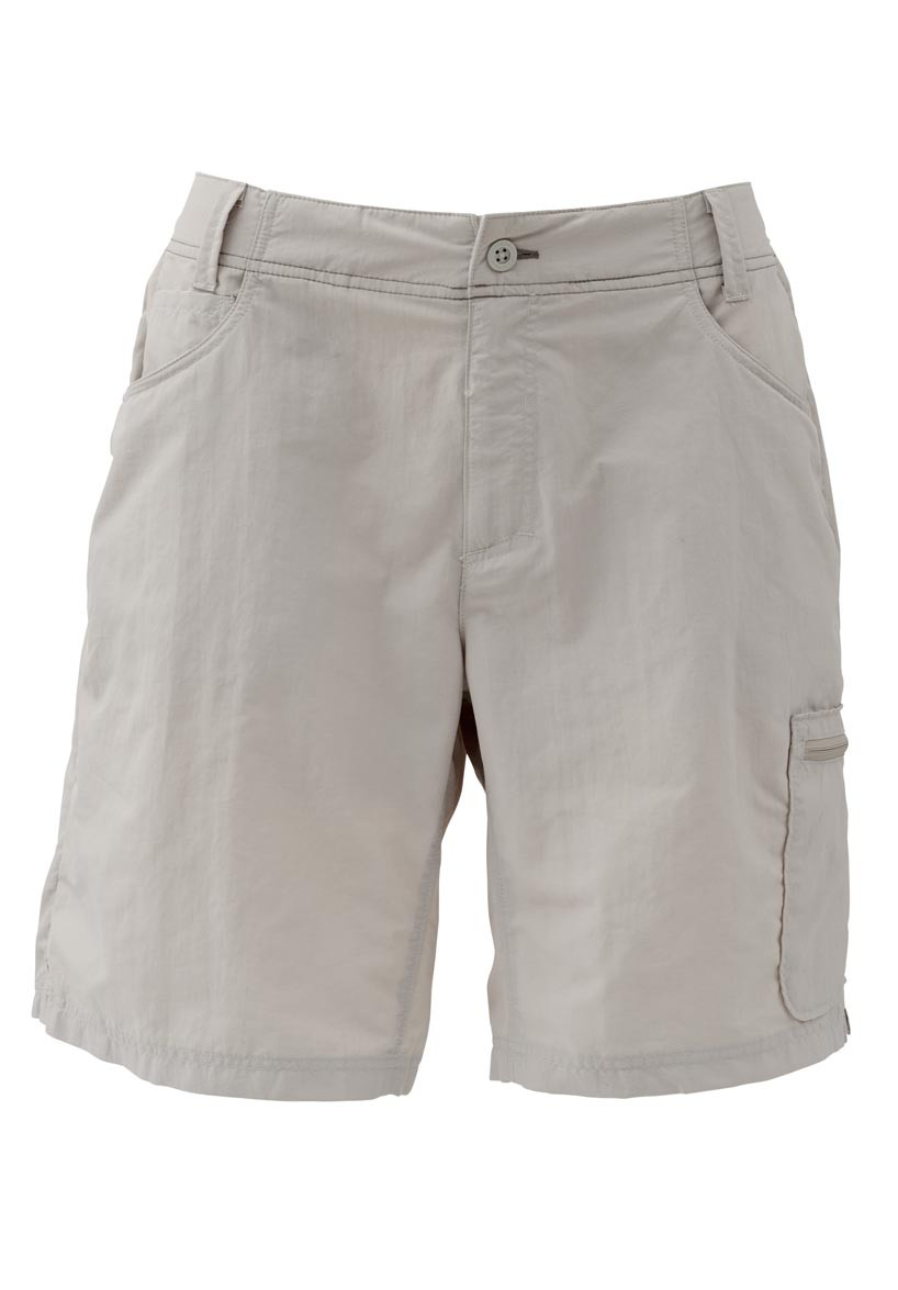 Simms women 39 s flyte short khaki glasgow angling centre for Womens fishing shorts