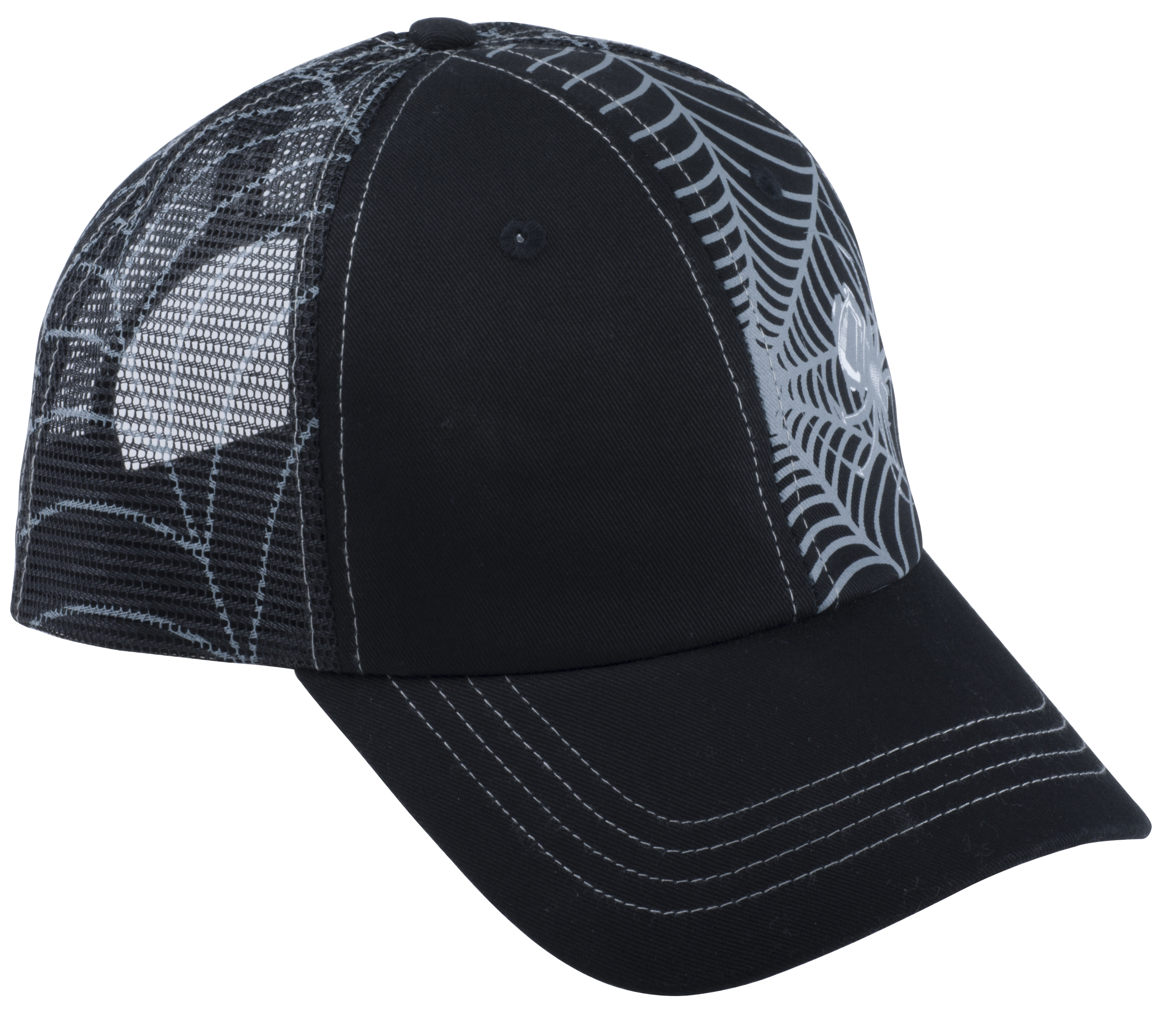 Spiderwire spider flat bill hat black glasgow angling for Fishing flat bill hats